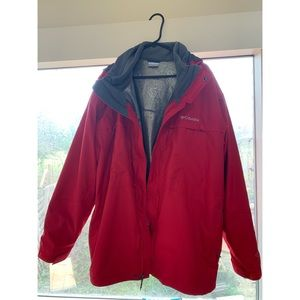 Columbia Jacket-Red